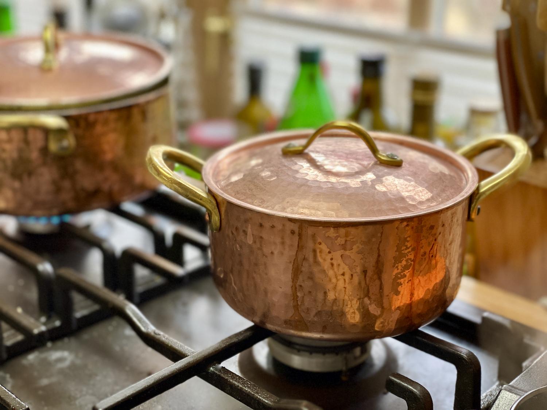 Kupfer in der Küche