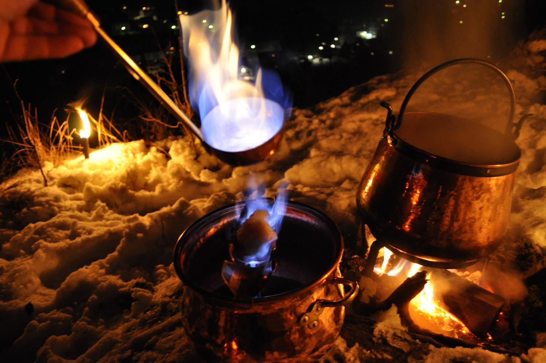 Kupfer für romantische Abende und wilde Partys